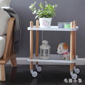 收納推車 可移動小推車北歐家用廚房置物架多功能美容院收納架 ys4722『毛菇小象』