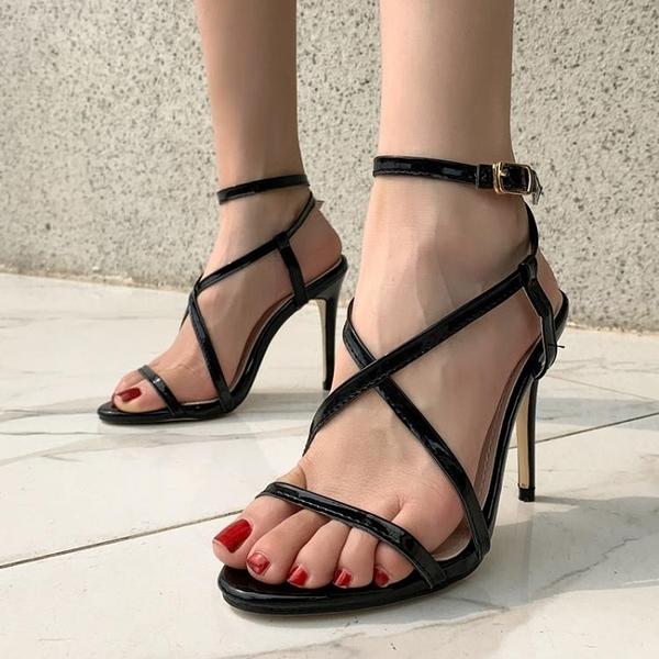 促銷九折 速賣通高跟鞋女新款春季細跟仙女尖頭白色百搭性感黑色職業