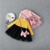 童裝女童冬裝裙子1-2-3歲4秋冬季新款女寶寶加絨洋裝兒童公主裙 滿天星