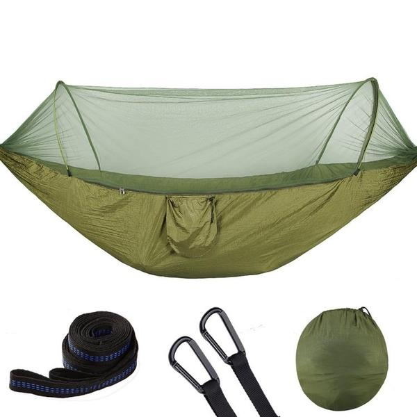 吊床戶外秋千吊繩野外空中帳篷帶蚊帳超輕單雙人野營吊椅自動速開 NMS 露露日記