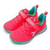 LIKA夢 DIADORA 迪亞多那 輕量4E寬楦慢跑鞋 數碼天空系列 螢橘 5653 大童