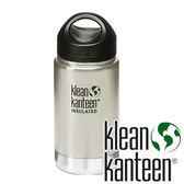 【Klean Kanteen】LoopCap寬口不鏽鋼保溫瓶 355ml/12oz『原色鋼』KK12VWSSL-BS不鏽鋼水壺