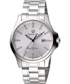 Olympia Star 夜鷹系列T25時尚腕錶/手錶-銀/41mm 58054TMS