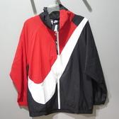 Nike SWSH JKT WVN CB 休閒外套 寬鬆版女款 BV3686010 紅黑白勾【iSport愛運動】