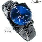 ALBA雅柏錶 情人節限定  不銹鋼錶帶 IP黑電鍍 男錶 AS9H47X1 VJ42-X270SD