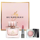 BURBERRY My Burberry BLUSH女性淡香精禮盒(淡香精90ml+唇膏1g#85+眼影3.6g#104) (21085)【娜娜香水美妝】