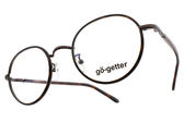 Go-Getter 光學眼鏡 GO2026 BR (琥珀棕) 復古文青造型款 圓框眼鏡 # 金橘眼鏡