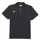 KAPPA義大利 時尚型男舒適吸濕排汗短袖POLO衫 黑 321762W005