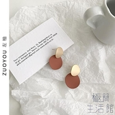 韓國百搭氣質耳環ins圓片純銀女耳釘無耳洞耳夾【極簡生活】