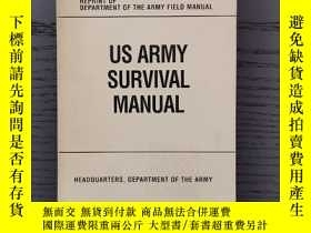 二手書博民逛書店US罕見ARMY SURVIVAL MANUALY377063 Headquarters, DOA Barne