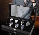 手錶收納盒開窗皮革首飾箱高檔手錶包裝整理...