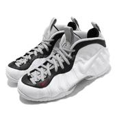 Nike 籃球鞋 Air Foamposite Pro Chrome White 白 黑 男鞋 休閒鞋 太空鞋 【PUMP306】 624041-103