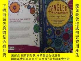 二手書博民逛書店填色繪畫藝術罕見Tangled treasures:colori