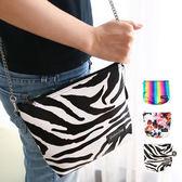 泰國    師品牌Cheetah Ciety 斜肩包鍊條側背迷你手拿包手機包萬用包