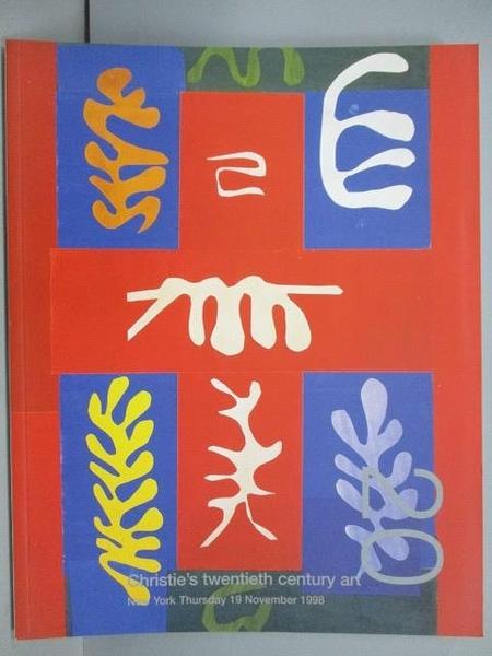 【書寶二手書T5/收藏_PEU】Christie s_Twentieth Century Art_1998/11/19