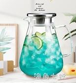 冷水壺玻璃水壺杯子套裝大容量家用涼水壺耐熱高溫涼白開水壺茶壺 蘇菲小店