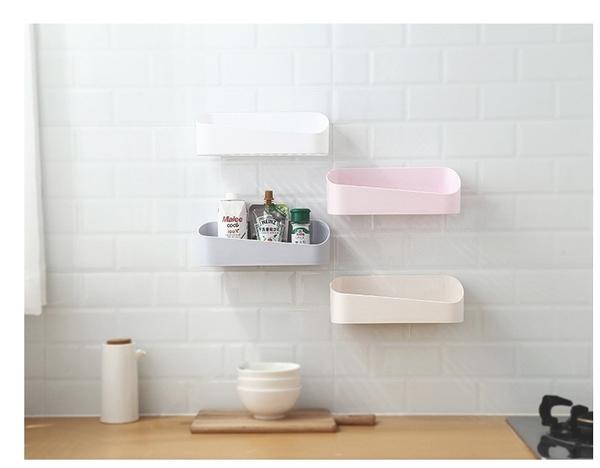 【SG149】原創幾何置物架 浴室置物架 衛生間強力粘貼置物架 塑料壁掛收納架浴室牆上化妝盒
