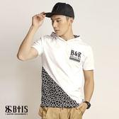 【BTIS】拼接短袖連帽T-shirt / 白色