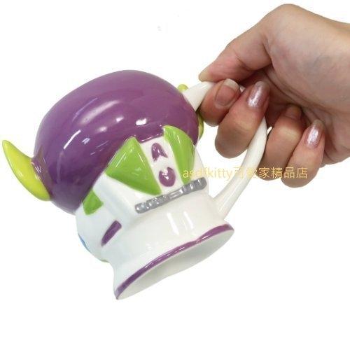 asdfkitty*迪士尼 玩具總動員 三眼怪變身巴斯光年造型有蓋陶瓷馬克杯/收納罐-當擺飾也很好看-250ML