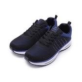 COMBAT 飛織雙氣墊休閒運動鞋 黑藍 男鞋 鞋全家福