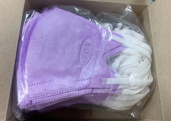 飛速3D立體醫用口罩-壓條鼻樑S-紫色50入(盒裝) *維康