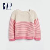 Gap嬰兒舒適純棉針織條紋上衣529522-粉色條紋
