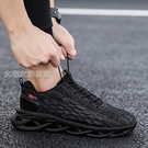 運動鞋男男鞋夏季21新款網面男士運動休閒板鞋百搭飛織跑步潮鞋透氣網鞋 快速出貨