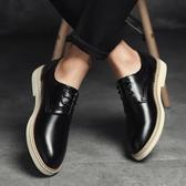 皮鞋男韓版潮流百搭學生青少年英倫軟面皮內增高商務休閒夏季 卡卡西