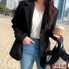 小西裝2020新款外套女韓版炸街套裝職業小個子黑色休閒西服上衣秋【快速出貨】