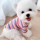 米樂彩虹狗狗貓咪打底小型犬夏季泰迪寵物雪納瑞比熊衣服春秋薄款 【韓語空間】