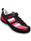 【ATEMPO】UCG都會風 公路車卡鞋 女款 桃紅黑 玻纖踏片/LOOK/卡踏