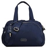 【南紡購物中心】agnes b. 金屬框邊雙層旅行袋-小深藍