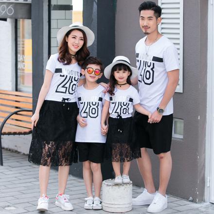 韓版時尚28短袖上衣親子裝(男大人)