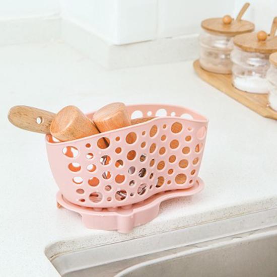 可分體式瀝水收納籃 瀝水掛籃 餐具 置物籃 雜物 浴室 菜瓜布 鋼刷 碗筷【N404】米菈生活館