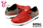 Royal Elastics 女休閒鞋 民族風 Icon系列 免綁帶運動鞋G9238#紅◆OSOME奧森童鞋/小朋友