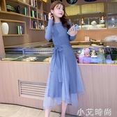 2020年秋冬季新款女裝收腰顯瘦氣質小香風毛衣針織連衣裙兩件套裝 小艾新品