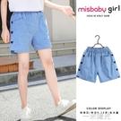 米詩貝女童牛仔短褲夏裝外穿2021新款中大童褲子薄款兒童女孩夏裝 一米陽光