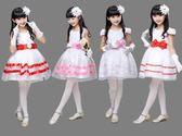 六一兒童演出服裝禮服女童蓬蓬裙白色紗裙公主裙小主持幼兒舞蹈服
