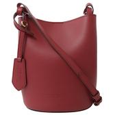 茱麗葉精品【全新現貨】BURBERRY 4057153 Haymarket戰馬格紋拼色水桶包.莓紅