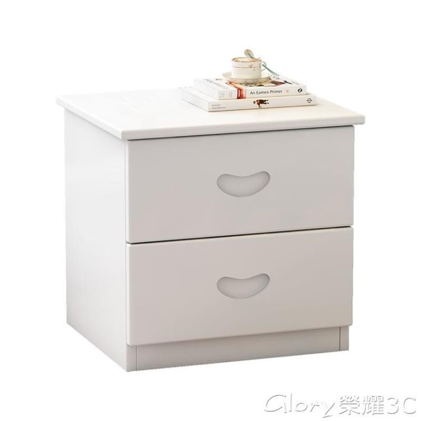 床頭櫃 簡約床頭櫃田園實木收納櫃衣櫃歐式斗櫃簡易地櫃床頭櫃LX 榮耀