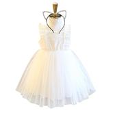 女童短袖洋裝 蕾絲無袖連身裙 背心裙小公主禮服 童裝 MS603