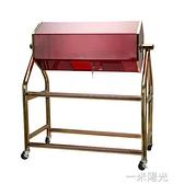 抽獎箱酒店亞克力搖獎箱透明茶色抽獎箱號碼箱滾動抽獎箱  一米陽光