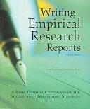 二手書 Writing Empirical Research Reports: A Basic Guide for Students of the Social and Behavioral Sci R2Y 1884585582