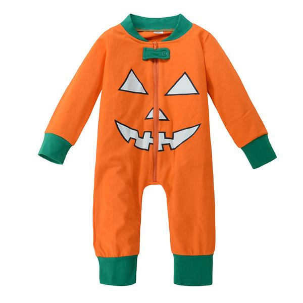 萬聖節服裝 南瓜長袖長褲連身衣 包屁衣 造型服聖誕 橘魔法Baby magic 現貨 嬰幼兒 萬聖節服裝
