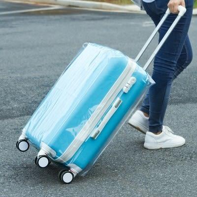 防水行李箱保護套透明拉杆箱旅行箱套20/24/26/28寸箱包加厚耐磨(20吋)─預購CH1411