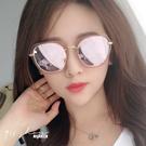 Sequin.透明輕甜時尚優雅金屬方框梯形偏光太陽眼鏡【f5037】911 SHOP