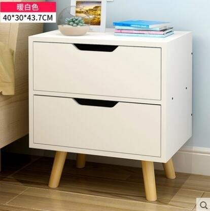 億家達 實木床頭櫃 簡約現代床頭儲物櫃子歐式簡易斗櫃床邊收納櫃