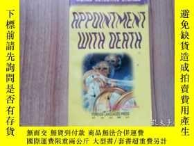 二手書博民逛書店英文原版罕見Appointment with Death 死亡約