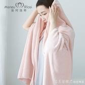 曼柯洛希浴巾成人兒童柔軟吸水大毛巾男女家用柔軟情侶美容院裹胸 漾美眉韓衣