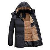 男士中長款毛領棉服 男款韓版個性冬天加絨棉衣 型男保暖百搭簡約外衣 男生冬天加厚時尚外套